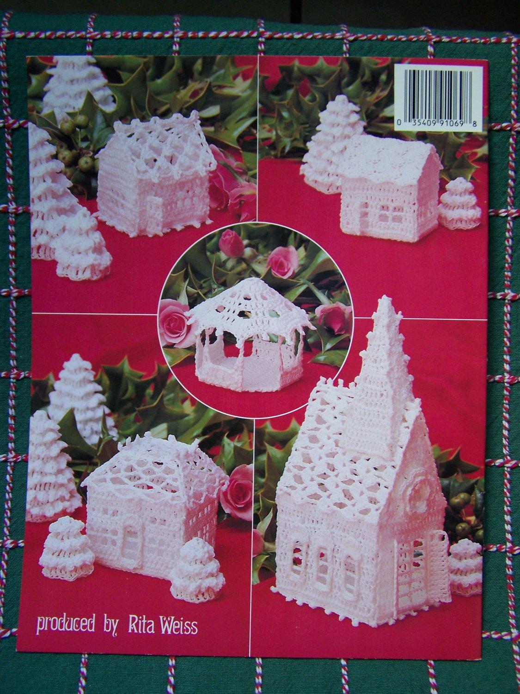 Vintage Thread Crochet Patterns Christmas Village Church