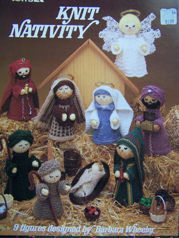 USA Free S&H Vintage Christmas Knitting Patterns Nativity Set