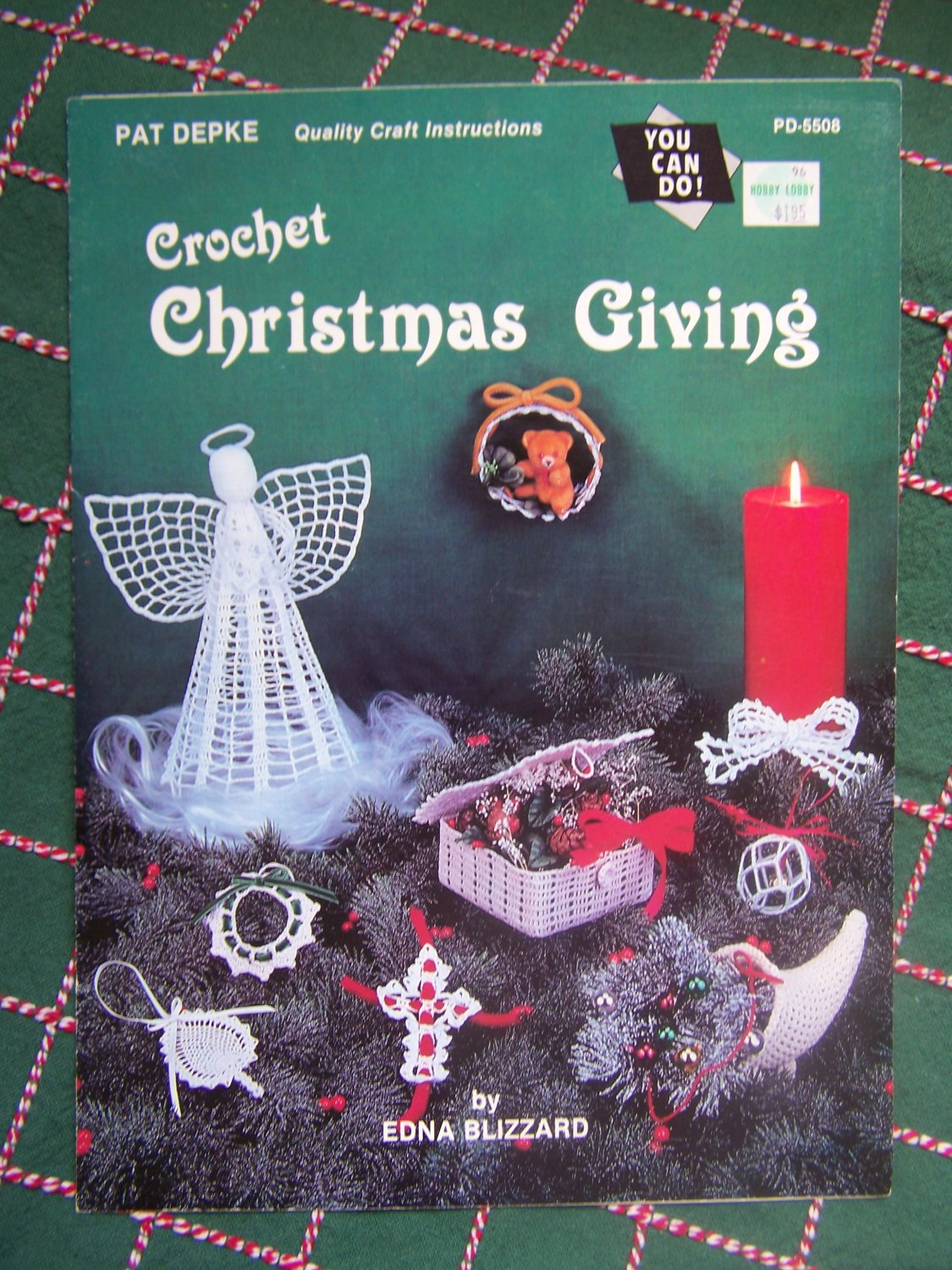 Vintage 1980's Christmas Crochet Patterns Angel Tree Topper Ornaments Decorations