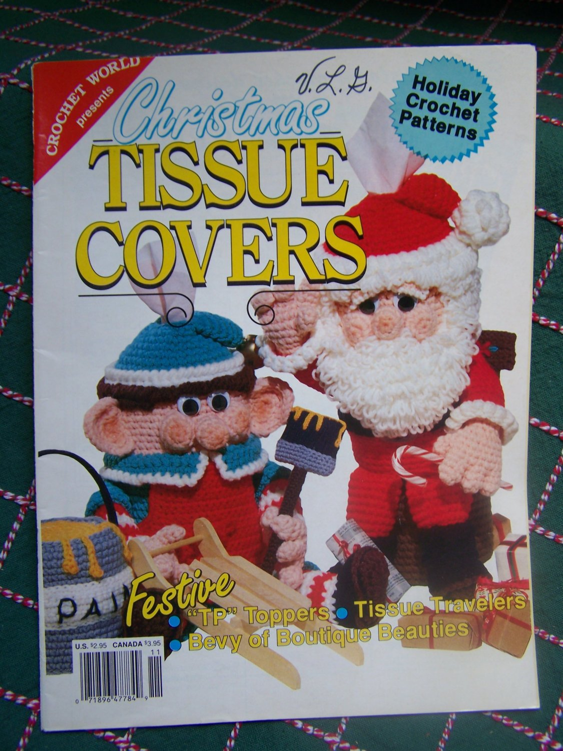 Vintage Christmas Crochet Patterns Decorative Tissue Covers