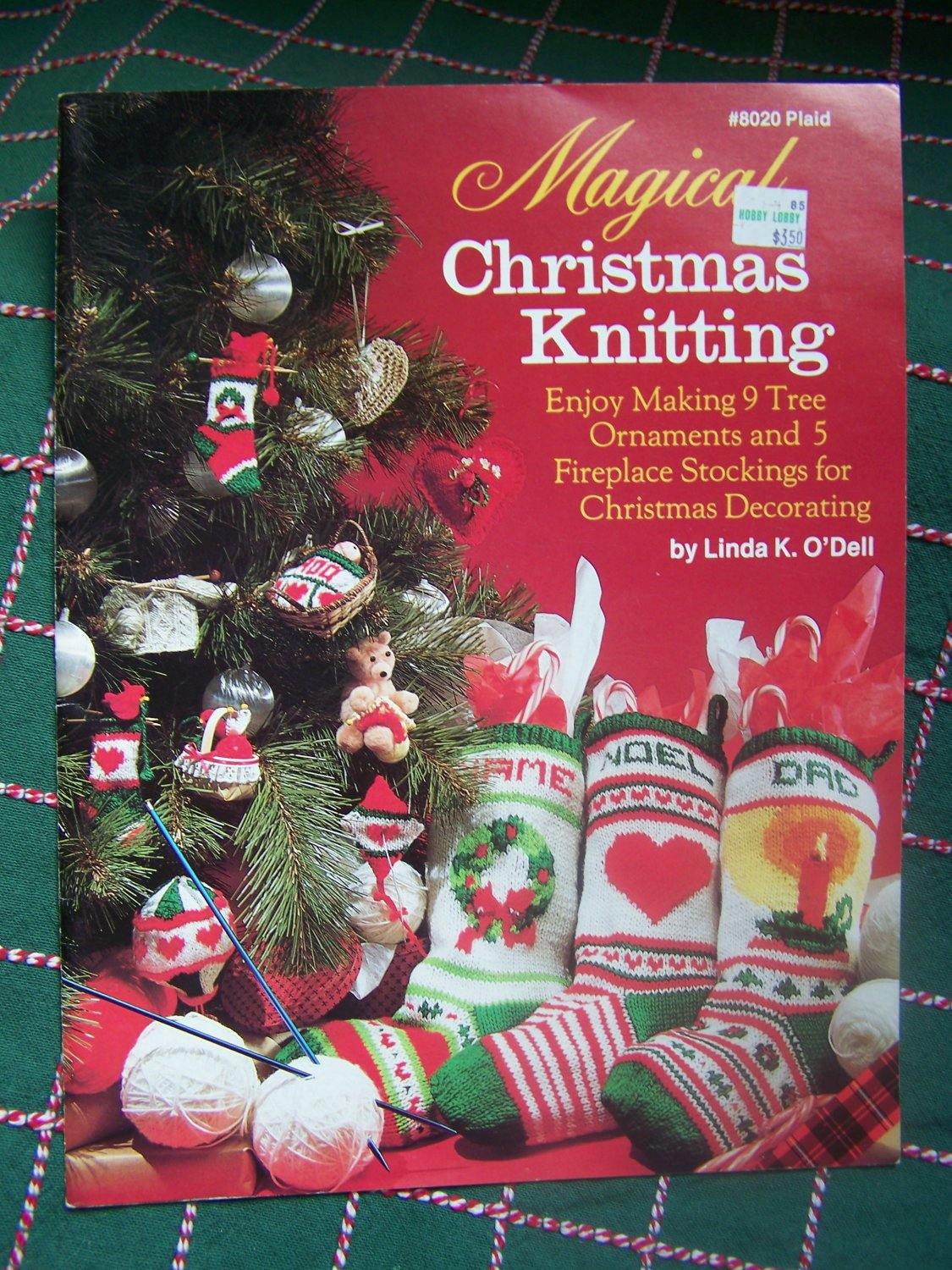 S&H Free USA Vintage Knitting Patterns 9 Christmas Tree Ornaments & 5...