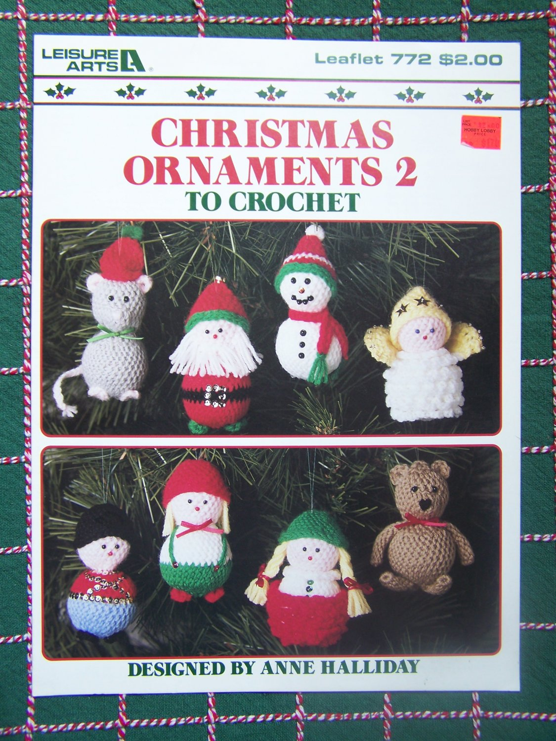 Free USA S&H   8 New Vintage Christmas Crochet Ornament Patterns 772