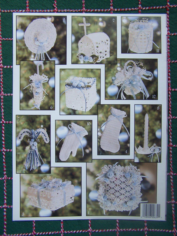 Free Crochet Thread Christmas Ornament Patterns : 12 Vintage Thread Crochet Victorian Christmas Ornament ...