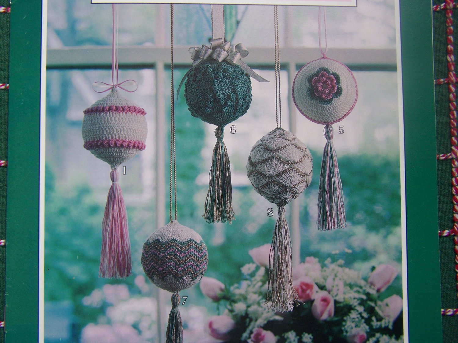 Free Crochet Patterns For Christmas Ball Covers : 8 Crocheted Victorian Christmas Ornament Patterns Ball ...