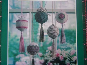 8 Crocheted Victorian Christmas Ornament Patterns Ball Covers With Tassels 2255