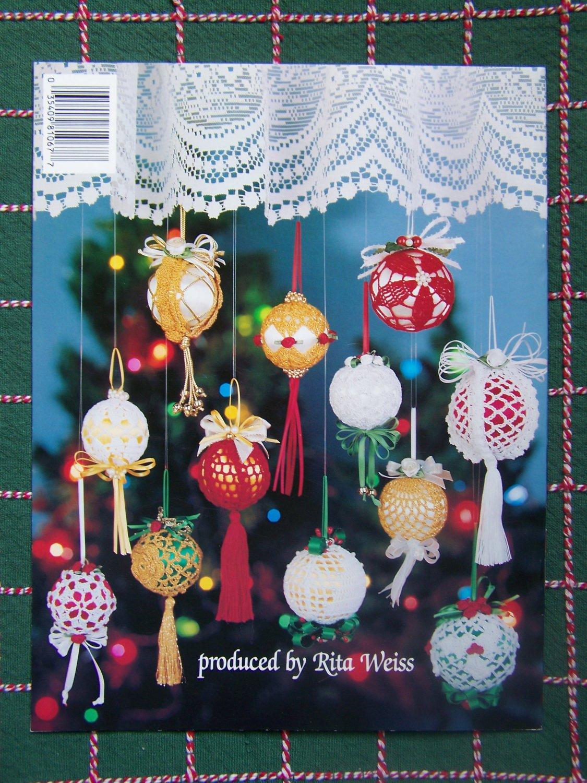 12 New Bedspread Cotton Thread Crochet Christmas Tree Ornament Patterns Satin Ball Covers