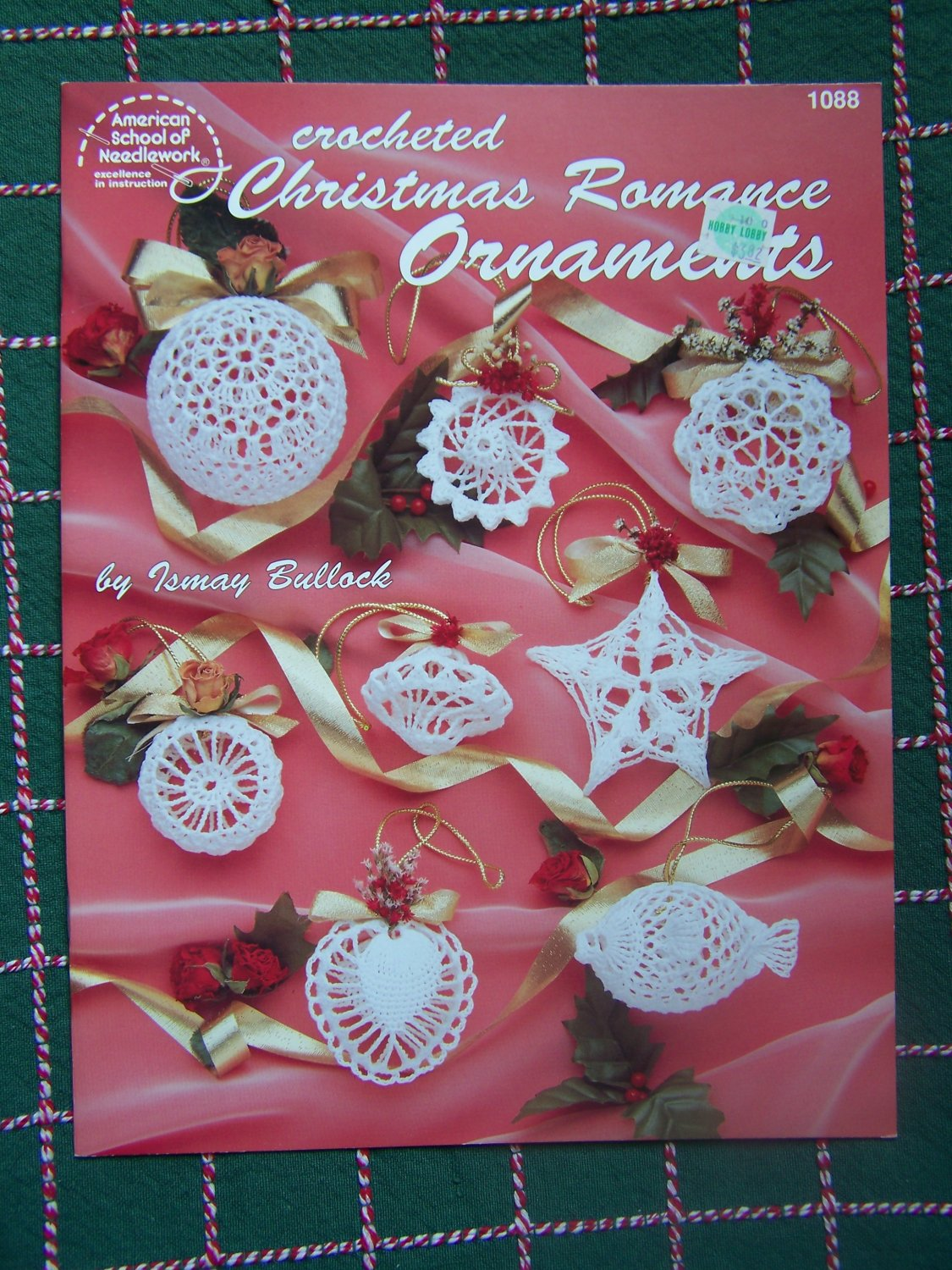 USA Free S&H 12 New Thread Crochet Christmas Ornament Patterns Filigree Lacy 1088