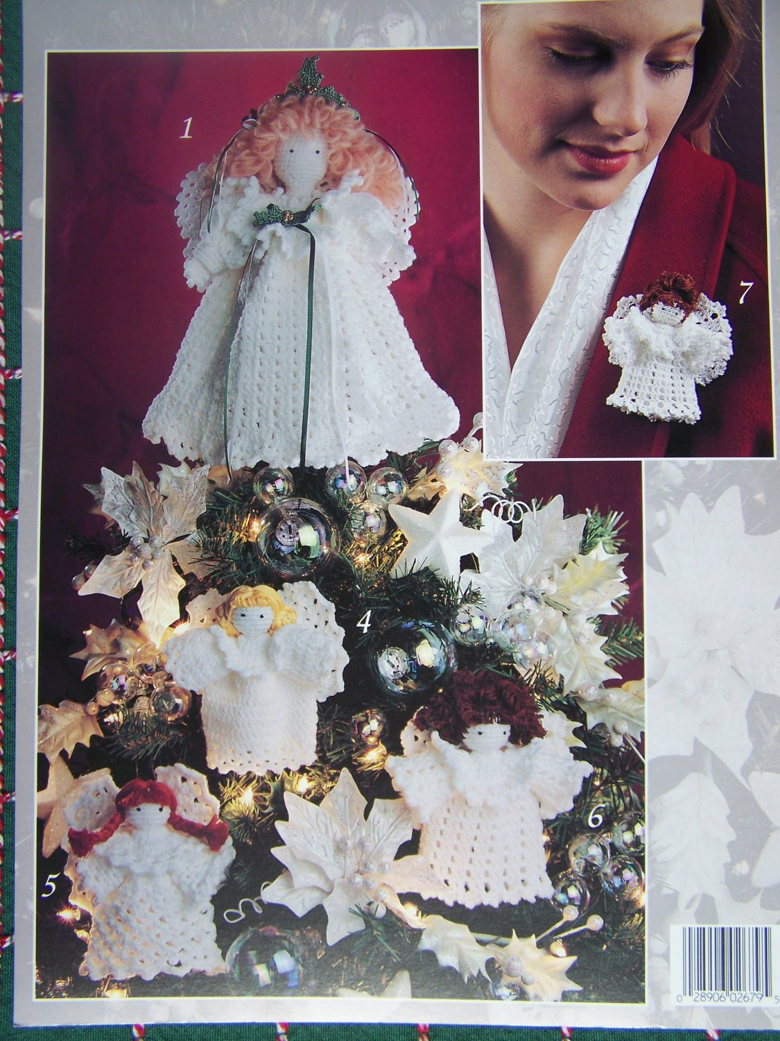 Free Crochet Patterns Christmas Tree Topper : Free USA S&H Crochet Christmas Angel Patterns Tree Topper ...