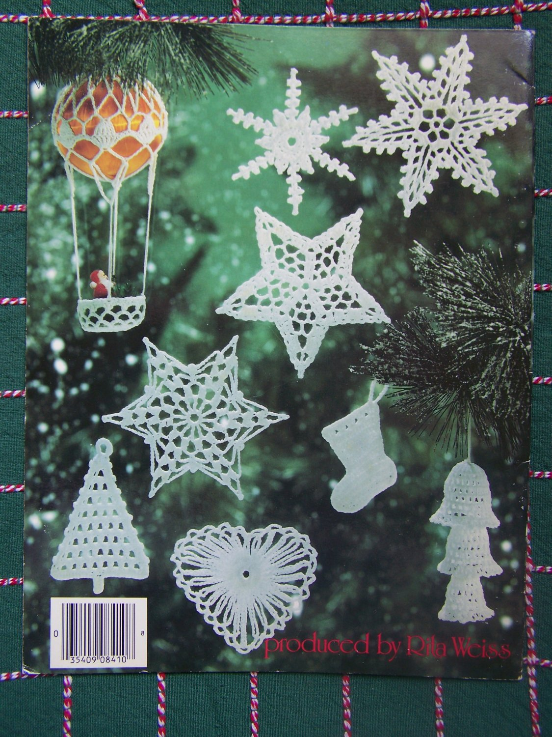 USA Free S&H Christmas Thread Crochet Patterns Tree Topper 8 Ornaments ...