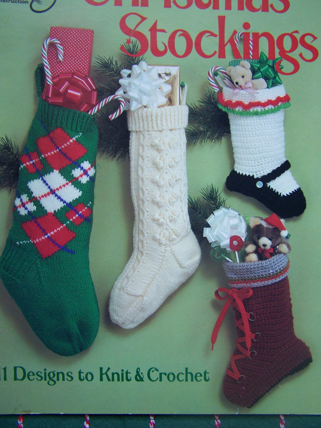 Vintage Christmas Stocking Knitting Pattern : 11 Vintage Christmas Stockings Patterns 5 Knitting & 6 Crochet