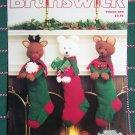 Vintage Knitting Patterns Christmas Stuffed Animal & Sampler Stockings Tree Skirt