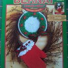 New Bernat Christmas Crochet Patterns Oven Mitt Potholder Ornaments Tree Bell Santa