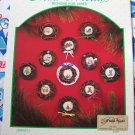 11 Vintage Christmas Cross Stitch Patterns Mini Vine Wreaths Free USA S&H