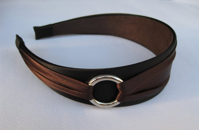 Chic Brown Black Metal Loop Headband Hair band