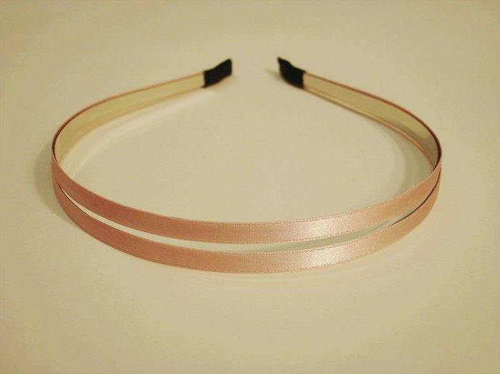 Pink Double Metal Headband Hair Band