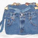 handbag, denim quilt, reversible, organizer purse