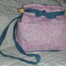 handbag, pink ribbon for a breast cancer cure fabric, quilt,denim, reversible, organizer, purse