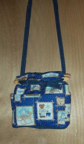 Purse Boyds teddy bear winter quilt denim organizer handbag