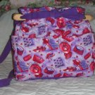 purse Red Hat Society quilt denim organizer handbag