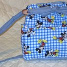 purse Mickey Mouse quilt denim organizer reversible handbag