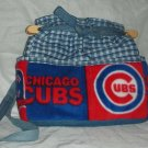 purse Chicago Cubs denim quilt organizer reversible handbag