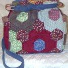 purse grandmas flower garden quilt denim organizer reversible handbag