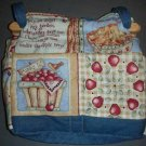 purse apple of Gods eye quilt denim organizer reversible handbag