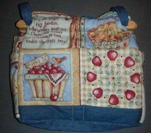 purse apple of Gods eye quilt denim organizer reversible handbag