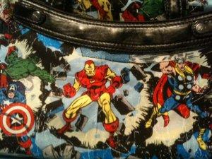 Avengers Marvel comic fabric Captain America, Ironman