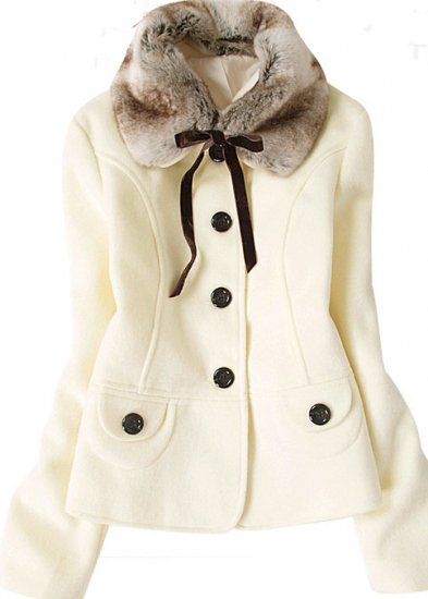 Button Down Fur Collar Tie Jacket (3 colors)