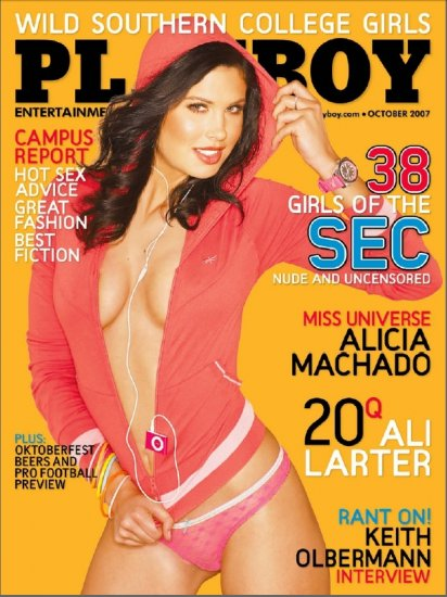 Playboy Magazine: Alicia Machado  (October 2007)