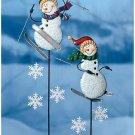 SKIING SNOWMEN CHRISTMAS HOLIDAY DECORATION