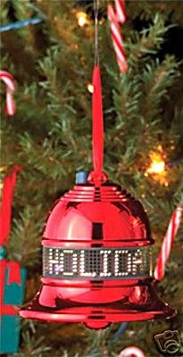 ELECTRONIC MOVING MESSAGE TREE ORNAMENT CHRISTMAS HOLIDAY DECORATION