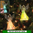 GLOWING ANGELS CHRISTMAS TREE ORNAMENTS CHRISTMAS HOLIDAY DECORATION
