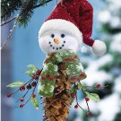 PINECONE SNOWMAN CHRISTMAS HOLIDAY DECORATION