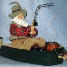 FISHERMAN SANTA CHRISTMAS HOLIDAY DECORATION.................MUST SEE