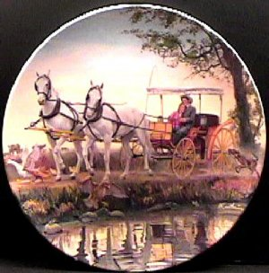SURREY WITH THE FRINGE ON TOP  FROM THE MOVIE OKLAHOMA   COLLECTOR PLATES