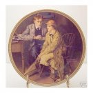 CONFIDING IN THE DEN  NORMAN ROCKWELL COLLECTOR PLATES