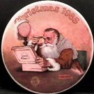GRANDPA PLAYS SANTA NORMAN ROCKWELL  COLLECTOR PLATES