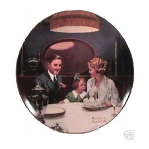 THE BIRTHDAY WISH  NORMAN ROCKWELL  COLLECTOR PLATES