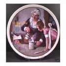 THE COOKING LESSON  NORMAN ROCKWELL  COLLECTOR PLATES