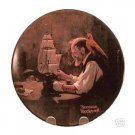 THE SHIP BUILDER  NORMAN ROCKWELL  COLLECTOR PLATES