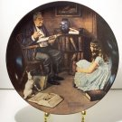 THE STORYTELLER   NORMAN ROCKWELL  COLLECTOR PLATES