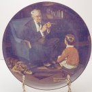 THE TYCOON  NORMAN ROCKWELL  COLLECTOR PLATES