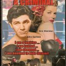ANN SHERIDAN, JOHN GARFIELD, IN...THEY MADE ME A CRIMINAL....A CLASSIC DVD