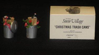 CHRISTMAS TRASH CANS