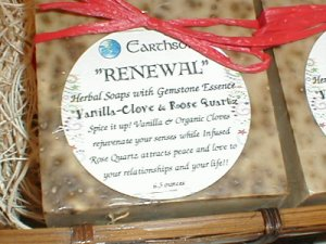 RENEWAL Vanilla Clove Spice Rose Quartz Earthsong Soap