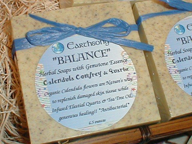 BALANCE Non Scented Calendula Comfrey Quartz Healing Big Bar Soap