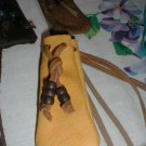 Soft Hide Medicine/Tobacco Bag Crow Beads FREESHIP Small