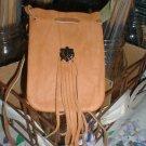 Leather Hide Medicine/Magic Bag Fringe & Totem FREE SHIPPING